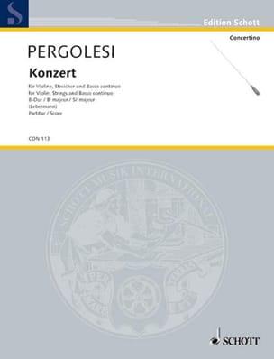 Giovanni Battista Pergolesi - Violin-Konzert B-Dur – Partitur - Partition - di-arezzo.fr