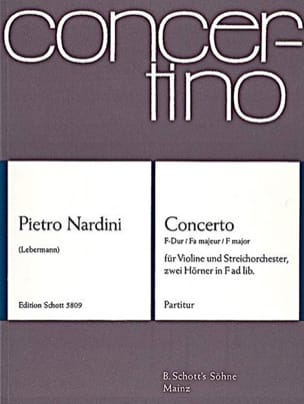 Pietro Nardini - Concerto F-Dur für Violine op. 1 n° 3 - Partitur - Partition - di-arezzo.fr