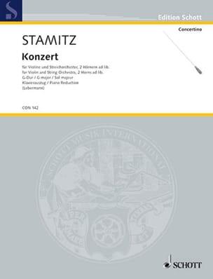 Johann Stamitz - Violin-Konzert G-Dur - Violine Klavier - Partitura - di-arezzo.es