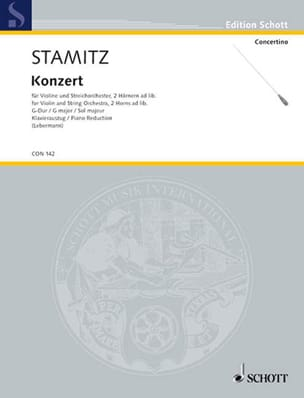 Johann Stamitz - Violin-Konzert G-Dur - Violine Klavier - Sheet Music - di-arezzo.com