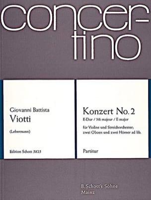 Giovanni Battista Viotti - Violin-Konzert Nr. 2 E-Dur - Partitur - Partition - di-arezzo.fr