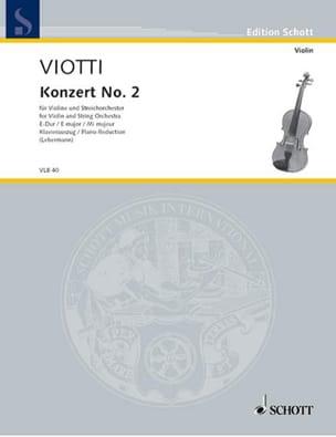 Giovanni Battista Viotti - Concerto Violon n° 2 mi majeur - Partition - di-arezzo.fr