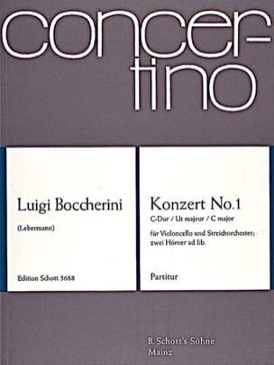 BOCCHERINI - Violoncello-Konzert Nr. 1 C-Dur - Partition - di-arezzo.fr