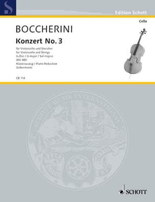 BOCCHERINI - Concerto No. 3 Cello in G Major Wv 480 - Sheet Music - di-arezzo.co.uk