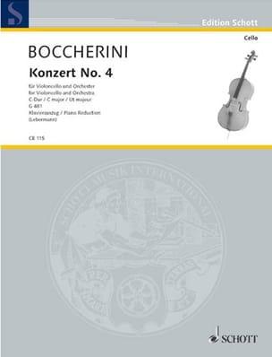 BOCCHERINI - Concerto No. 4 in C major G. 481 - Sheet Music - di-arezzo.co.uk
