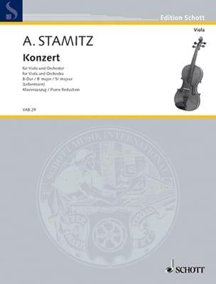 Anton Stamitz - Concerto, Si bémol majeur – Alto - Partition - di-arezzo.fr