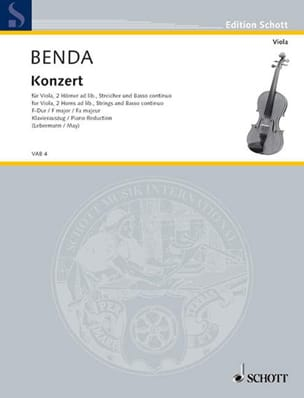 Georg Benda - Violin Concerto in F Major - Sheet Music - di-arezzo.com