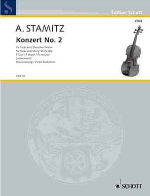 Concerto n° 2 en fa majeur – Alto - Anton Stamitz - laflutedepan.com