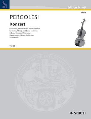 Giovanni Battista Pergolesi - Violin-Konzert B-Dur - Partition - di-arezzo.fr