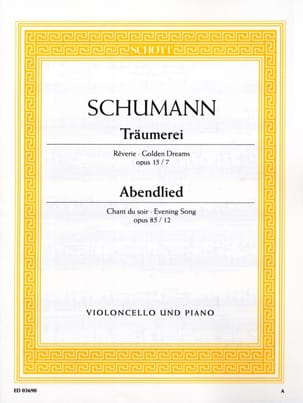 SCHUMANN - Träumerei op. 15 No. 7 / Abendlied op. 85 n ° 12 - Partition - di-arezzo.co.uk