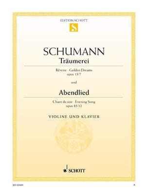 SCHUMANN - Träumerei op. 15 No. 7 / Abendlied op. 85 n ° 12 - Sheet Music - di-arezzo.co.uk
