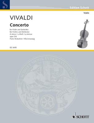 Antonio Vivaldi - Concerto la Mineur Op. 3 N° 6 - Partition - di-arezzo.fr