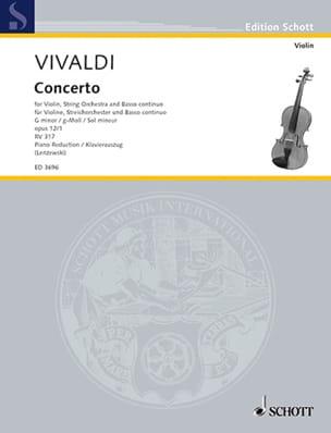 VIVALDI - Concerto op. 12 n° 1 - RV 317 en sol mineur - Partition - di-arezzo.fr
