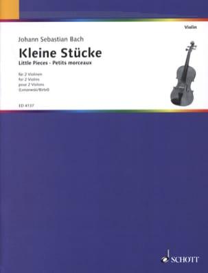 Kleine Stücke für 2 Geigen BACH Partition Violon - laflutedepan