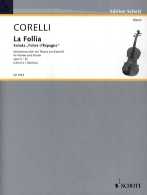 CORELLI - Sonata la Follia op. 5 n ° 12 - Sheet Music - di-arezzo.co.uk