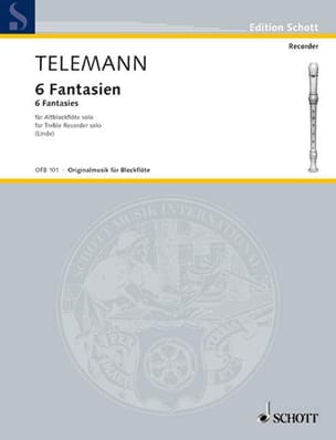 TELEMANN - 6 Fantasy - Altblockflöte solo - Sheet Music - di-arezzo.co.uk