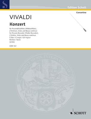 Antonio Vivaldi - Concerto in C-Dur für Piccoloblockflöte RV 443 – Partitur - Partition - di-arezzo.fr