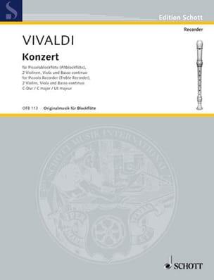 Konzert f. Piccolockflöte C-Dur RV 443 F. 6 n° 4 VIVALDI laflutedepan
