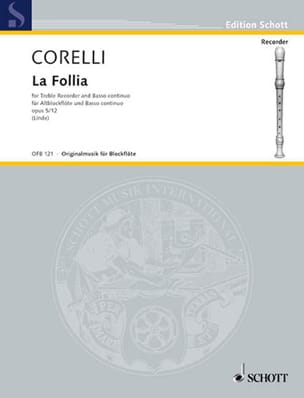 CORELLI - The Follia op. 5 n ° 12 - Altblockflöte und Bc - Sheet Music - di-arezzo.co.uk