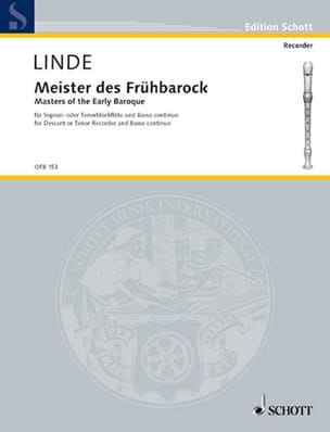 Hans-Martin Linde - Meister des Frühbarock -Sopran- o. Tenorblockflöte u. Bc - Partition - di-arezzo.fr
