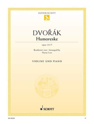 DVORAK - Humoreske op. 101 n ° 7 - Sheet Music - di-arezzo.co.uk
