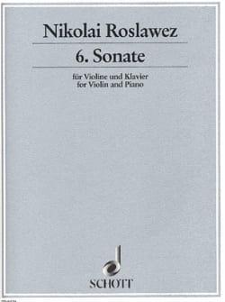 Sonate n° 6 - Violine Nikolai Roslawez Partition Violon - laflutedepan