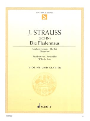 Die Fledermaus Johann (Fils) Strauss Partition Violon - laflutedepan