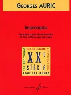 Impromptu Georges Auric Partition Hautbois - laflutedepan