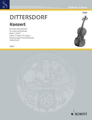 Carl Ditters von Dittersdorf - Viola-Konzert F-Dur (Krebs 168) - Partition - di-arezzo.fr
