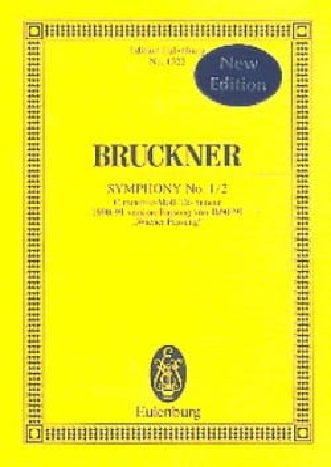Sinfonie Nr. 1/2 - Anton Bruckner - Partition - laflutedepan.com