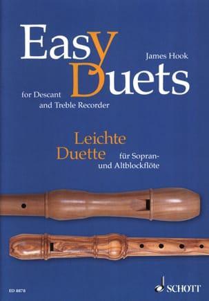 James Hook - Easy Duets - descant and treble recorder - Partition - di-arezzo.fr