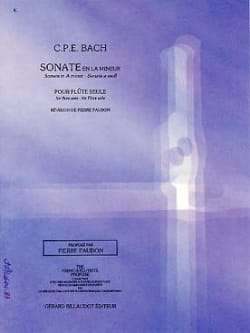 Carl Philipp Emanuel Bach - Sonata in A minor Wq 132 - Flute alone - Sheet Music - di-arezzo.co.uk