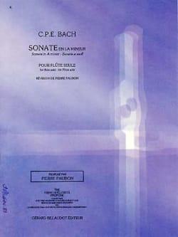 Carl Philipp Emanuel Bach - Sonate en la mineur Wq 132 – Flûte seule - Partition - di-arezzo.fr