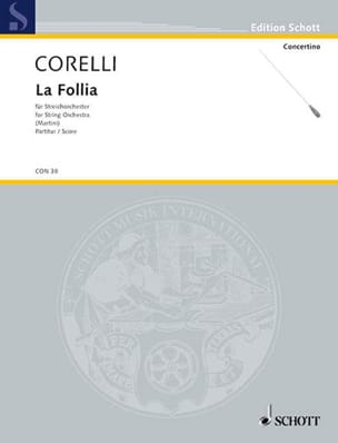 CORELLI - The Follia op. 5 n ° 12 - Streichorchester - Sheet Music - di-arezzo.com