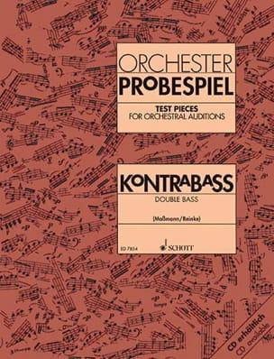 Massmann Fritz / Reinke Gerd - Orchestre Probespiel - コントラバス - 楽譜 - di-arezzo.jp