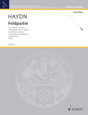 Feldpartie - Score - HAYDN - Partition - laflutedepan.com