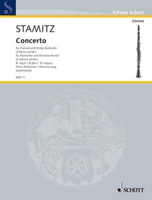 Johann Stamitz - Konzert B-Dur - Klarinette Klavier - Sheet Music - di-arezzo.co.uk