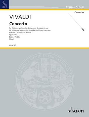 VIVALDI - Concerto op. 3 n° 11, RV 565 d-moll für 2 Violinen, Cello - Partitur - Partition - di-arezzo.fr
