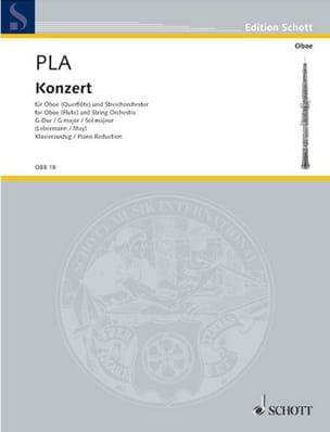 Juan Bautista Pla - Konzert G-Dur - Oboe Flöte Klavier - Partition - di-arezzo.fr