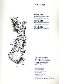 BACH - 9 Pieces - Double Bass and Piano - Sheet Music - di-arezzo.co.uk