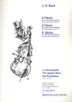 BACH - 9 Pièces –Contrebasse et piano - Partition - di-arezzo.fr