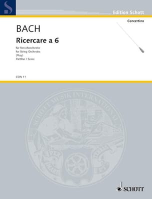 Johann Sebastian Bach - Ricercare a 6 (BWV 1079) – Conducteur - Partition - di-arezzo.fr