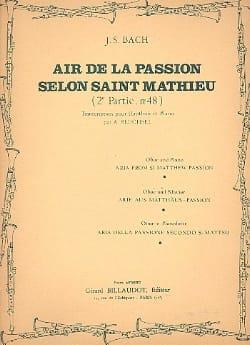Johann Sebastian Bach - Air De La Passion Selon Saint Mathieu - Partition - di-arezzo.fr
