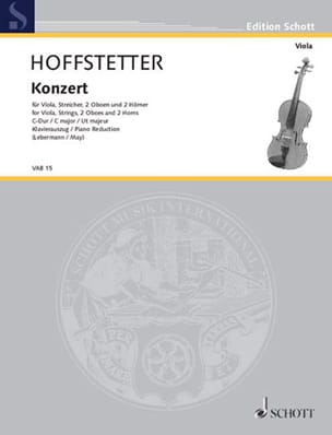 Roman Hoffstetter - Concerto In C Major - Sheet Music - di-arezzo.com