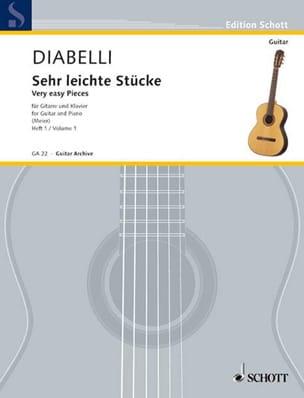 Antonio Diabelli - Sehr leichte Stücke –Heft 1 - Partition - di-arezzo.fr