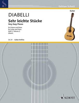 Antonio Diabelli - Sehr leichte Stücke – Heft 3 - Partition - di-arezzo.fr