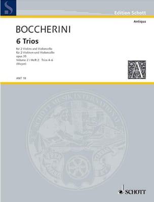 6 Trios op. 35 -Bd. 2 : Nr. 4-6 -Stimmen BOCCHERINI laflutedepan