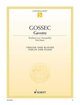 François-Joseph Gossec - gavota - Partitura - di-arezzo.es