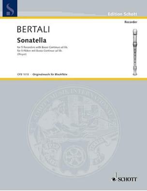 Antonio Bertali - Sonatella - 5 Blockflöten u. BC - Partition - di-arezzo.fr