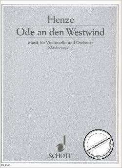 Hans Werner Henze - Ode an den Westwind - Partition - di-arezzo.fr